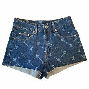 Divided H&M Love Denim Cutoff Style Shorts